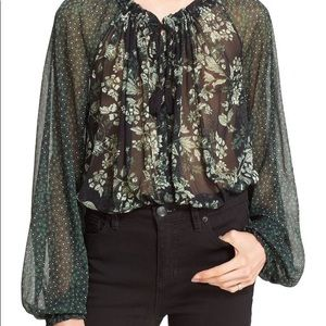 Free People Hendrix Floral Blouse Large